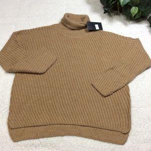 Jeuvre Coffee Turtleneck Long Sleeve Sweater Sz L